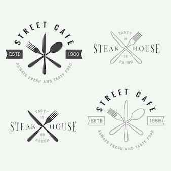 Logotipo do restaurante, crachá