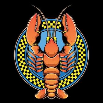 Logotipo do restaurante de lagosta
