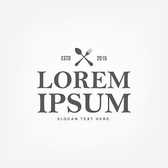 Logotipo do restaurante do vintage