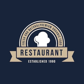 Logotipo do restaurante retrô