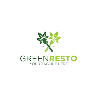 Logotipo do restaurante verde