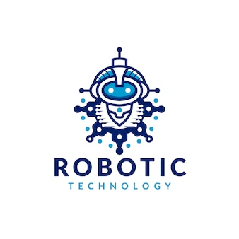 Logotipo do robô de engrenagem