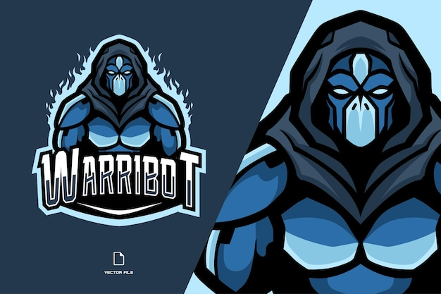 Logotipo do robô ninja mascote esport