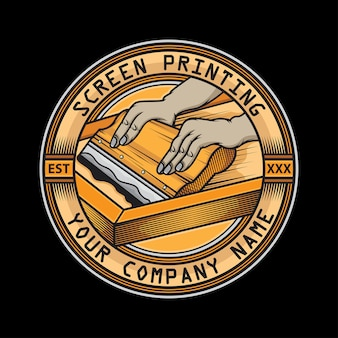 Logotipo do rodo de serigrafia