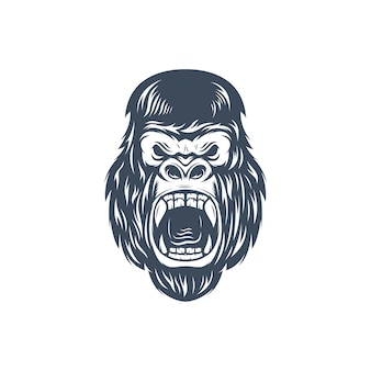 Logotipo do rosto de kingkong