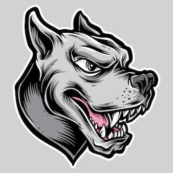 Logotipo do rottweiler