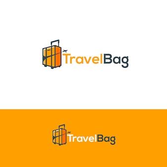 Logotipo do saco de viagem