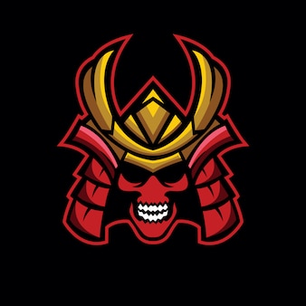Logotipo do samurai do crânio