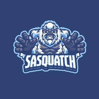 Logotipo do sasquatch mascot para esportes e equipes esportivas