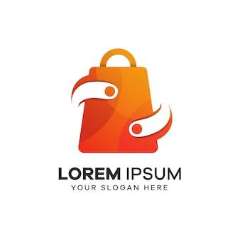 Logotipo do shopping com estilo de tecnologia