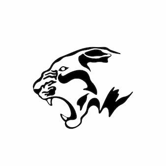 Logotipo do símbolo do tigre desenho de tatuagem tribal ilustração vetorial de estêncil