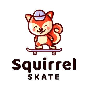 Logotipo do skate do esquilo