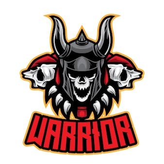 Logotipo do skull warrior esport