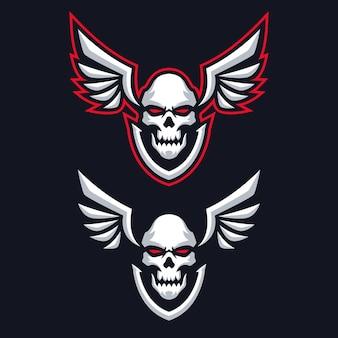 Logotipo do skull wing esports