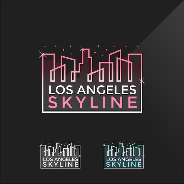 Logotipo do skyline de los angeles