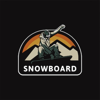 Logotipo do snowboard