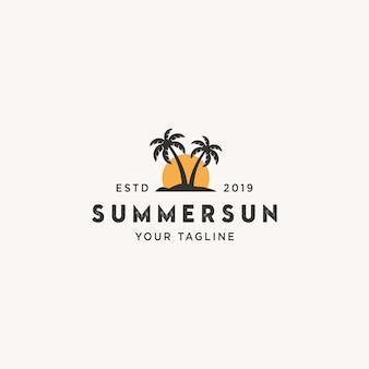 Logotipo do sol de verão