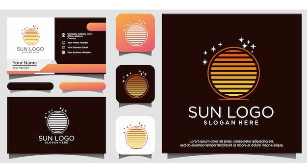 Logotipo do sol e estrela