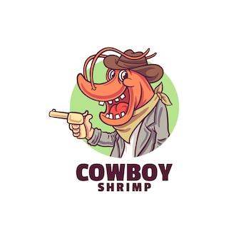 Logotipo do sorriso camarão caubói