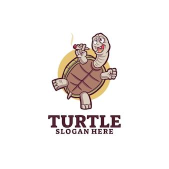 Logotipo do sorriso de tartaruga