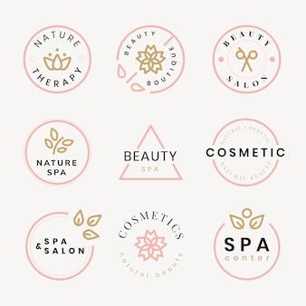 Logotipo do spa de beleza, conjunto de vetores de design moderno criativo
