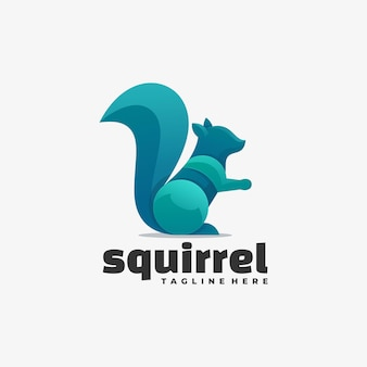 Logotipo do squirrel gradient colorful