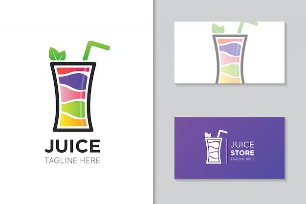 Logotipo do suco e modelo de cartão