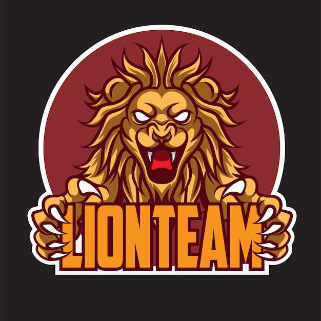 Logotipo do team lion esport