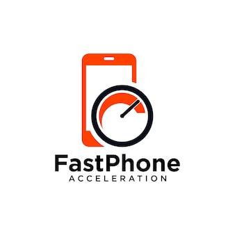 Logotipo do telefone mais rápido
