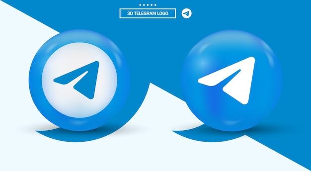 Logotipo do telegram em logotipos de mídia social de estilo moderno