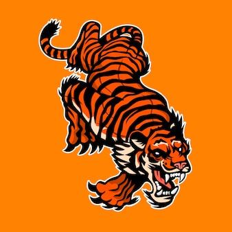 Logotipo do tigre com raiva