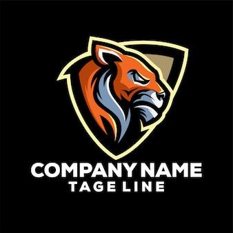 Logotipo do tigre de escudo