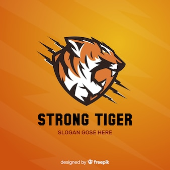 Logotipo do tigre forte