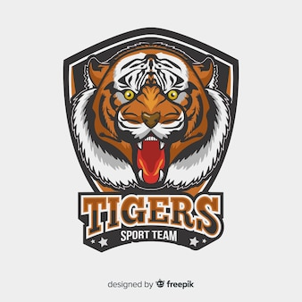 Logotipo do tigre realista