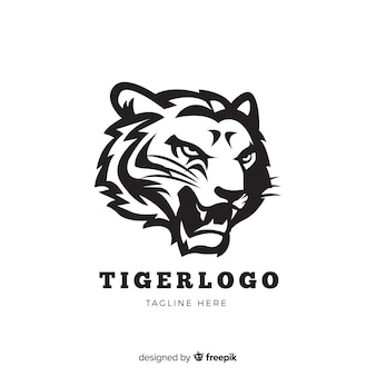 Logotipo do tigre rugindo