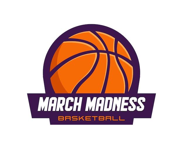 Logotipo do torneio de basquete, com bola de basquete.