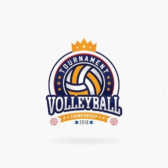 Logotipo do torneio de voleibol com coroa