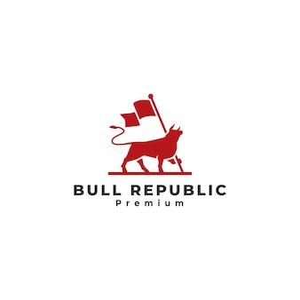 Logotipo do touro, bandeira de exploração de touro