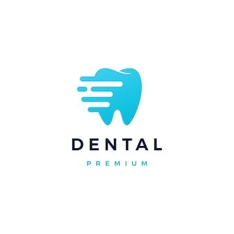 Logotipo do traço dental