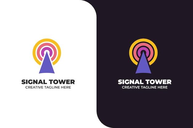 Logotipo do transmissor de transmissão da torre de sinal