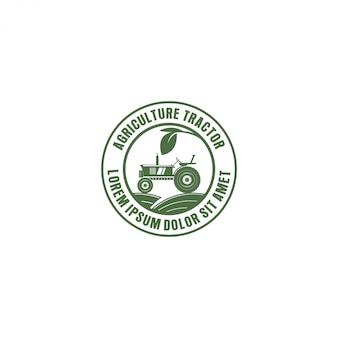 Logotipo do trator para agricultura industrial, agricultura
