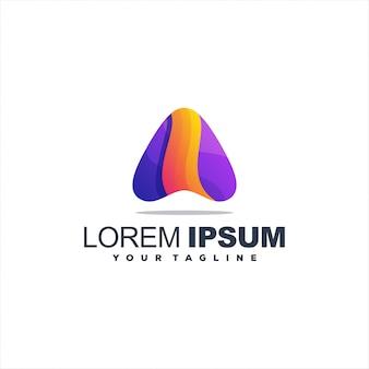 Logotipo do triângulo gradiente impressionante