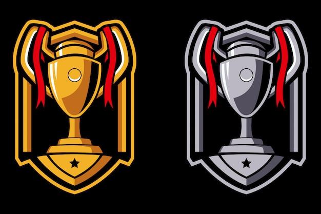 Logotipo do troféu de campeão de duas cores