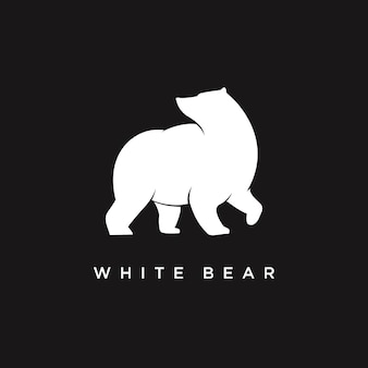 Logotipo do urso branco