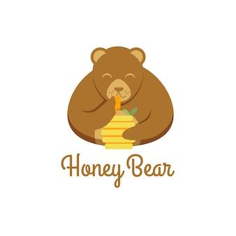 Logotipo do urso de mel