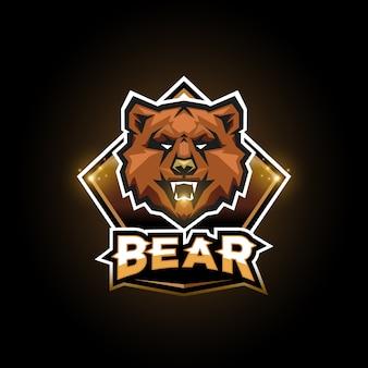 Logotipo do urso esports