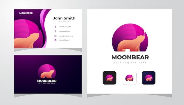 Logotipo do urso polar gradiente