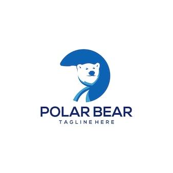 Logotipo do urso polar pronto para uso