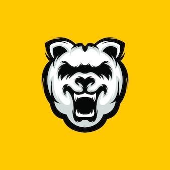 Logotipo do urso premium