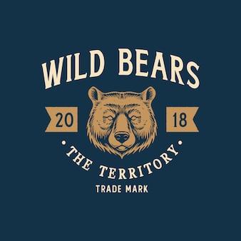 Logotipo do urso selvagem